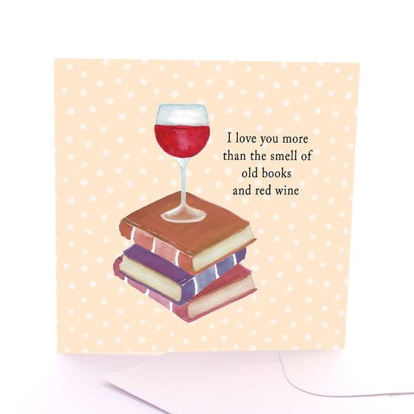 Square Greeting Card - I love you More