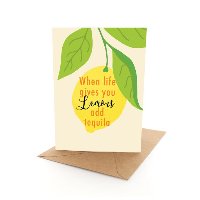 Punny Lemon Card