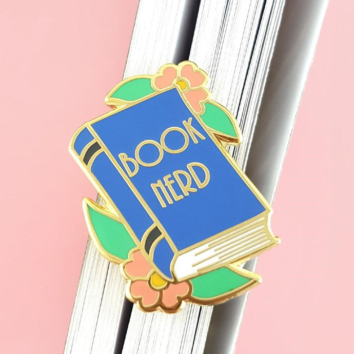 NEXT CHAPTER HOME DURAL + ONLINE | BOOK NERD LAPEL PIN BY JUBLY-UMPH