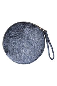 Lavaux Round Pouch in Charcoal by EB&IVE