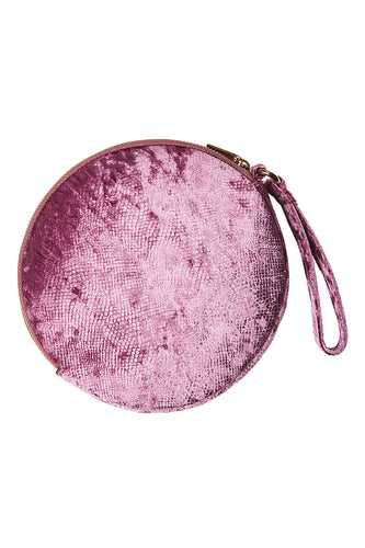 Lavaux Round Pouch in Merlot by EB&IVE