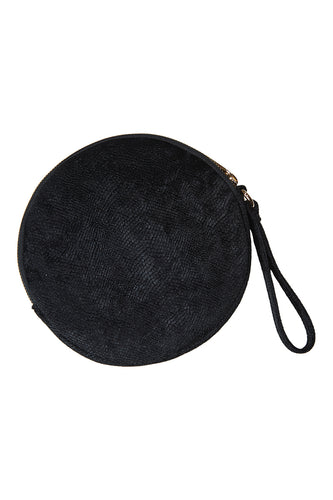 Lavaux Round Pouch in Onyx by EB&IVE