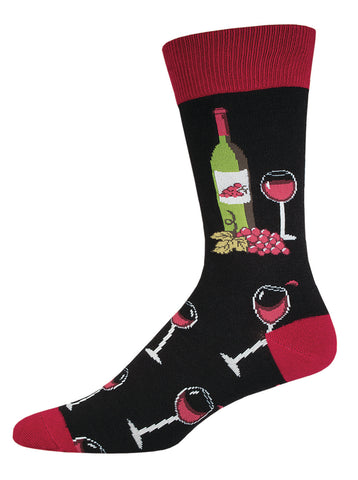 Mens Socks - Time to Wine