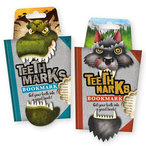 NEXT CHAPTER HOME HORNSBY | TEETH MARKS BOOK MARK - T REX + WOLF