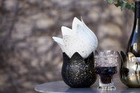 Verve Planter/Candle Holder in Onyx + Gold by EB&IVE