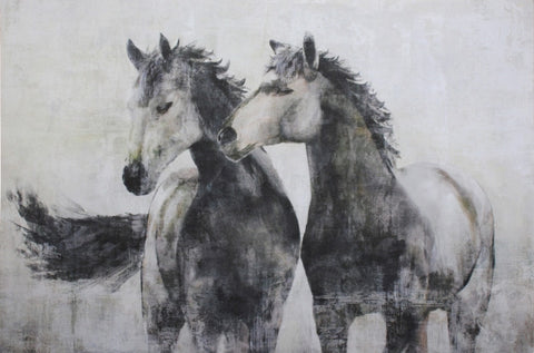 Horse Friends on Canvas - CLEARANCE