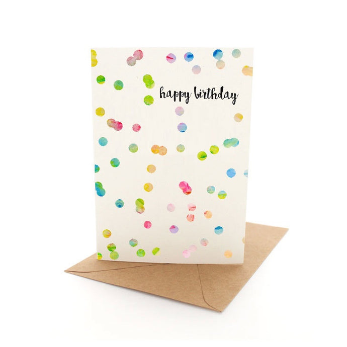 NEXT CHAPTER HOME HORNSBY | CONFETTI BIRTHDAY CARD FROM SKETCHY