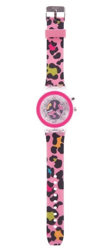 NEXT CHAPTER HOME DURAL + ONLINE | TIME TO SHINE FLASHING WATCH IN PINK CHEETAH