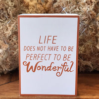 Wonderful Life Sign