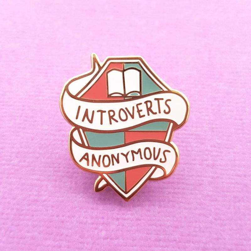 Introverts Anonymous Lapel Pin by Jubly-Umph