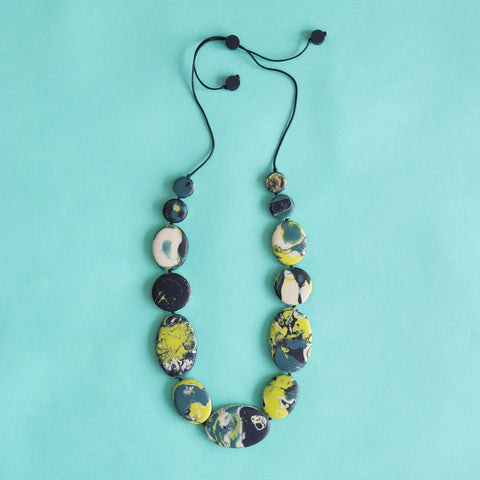 Ruby Olive Oceania Flat Artisan Long Necklace