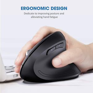VictSing Upgraded Ergonomic Vertical Wireless Mouse