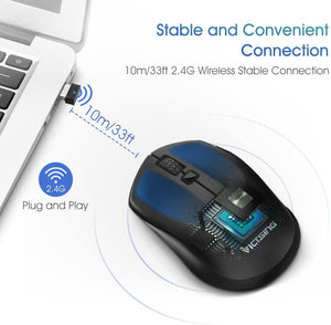 VictSing Wireless Mouse with USB reciverBlack