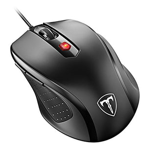 VicTsing Mouse 2400DPI, Compatibile con Windows 10/8/7/XP/Vista, per PC Mac, Nero