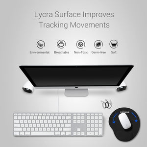 VicTsing Ergonomic Mouse Pad With Gel Wrist Rest Support Black