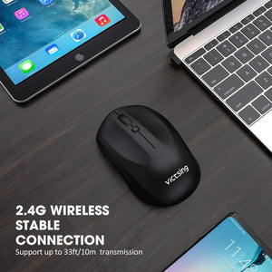 VictSing Twin Pack Wireless Ergonomic Mouse