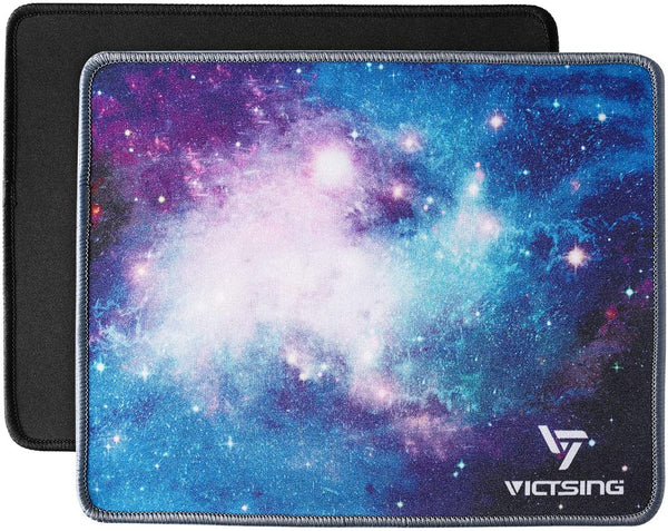 VictSing Mouse Pads [twin Pack]0.2×8.3×0.08 inches, Black+Blue