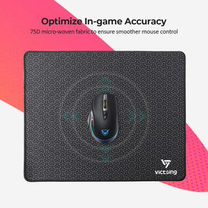 VictSing Big Mouse Pad with Double Stitched Edge, 14.6×11.8 inches