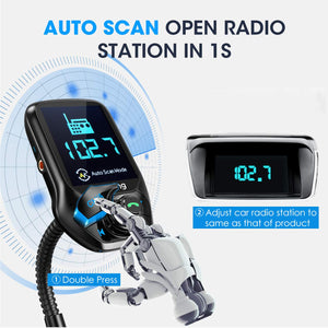 VicTsing Auto Scan Unused Station Bluetooth FM Transmitter