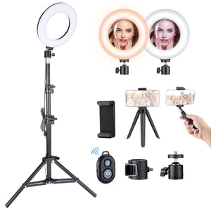 VicTsing Ring Light Kit with 5 Light Modes & 5 Brightness,3000K-6500K