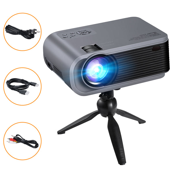 VicTsing Mini Projector with Tripod, 4600Lux