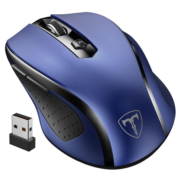 VictSing MM057 2.4G Wireless Optical Mouse Blue