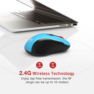 VictSing Computer Wireless Mouse Blue