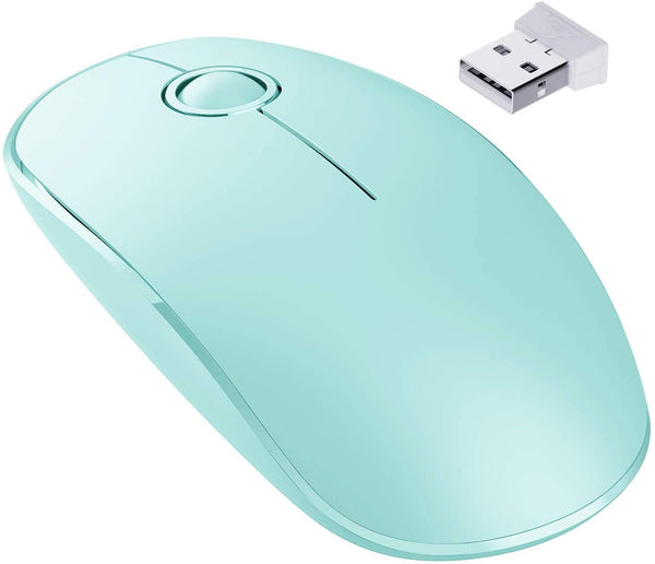 VictSing slim 2.4Ghz wireless mouse Mint Green