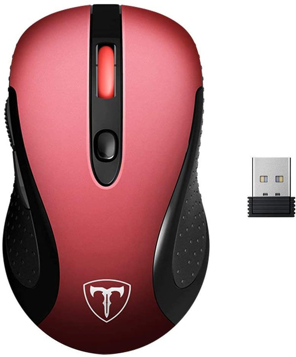 VictSing Computer Wireless Mouse Red