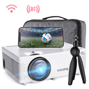 VicTsing WiFi Projector Bluetooth & Screen Mirroring, 3600 Lux