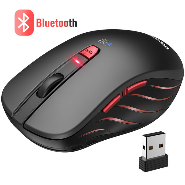 VictSing Bluetooth Wireless Dual Mode Optical Mouse Black