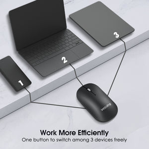 VictSing Bluetooth Wireless Slim Silent Mouse Starry Black