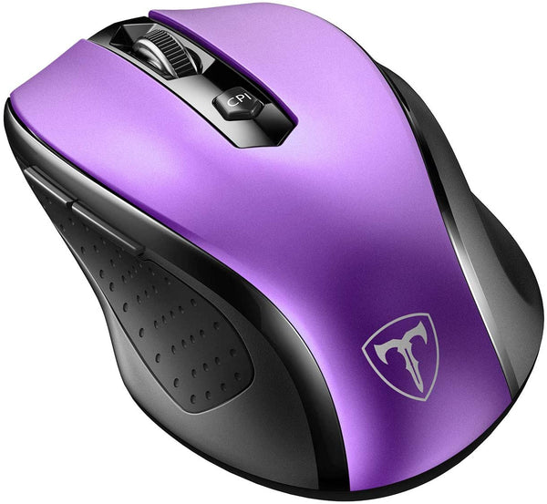 VictSing MM057 2.4G Wireless Optical Mouse Purple