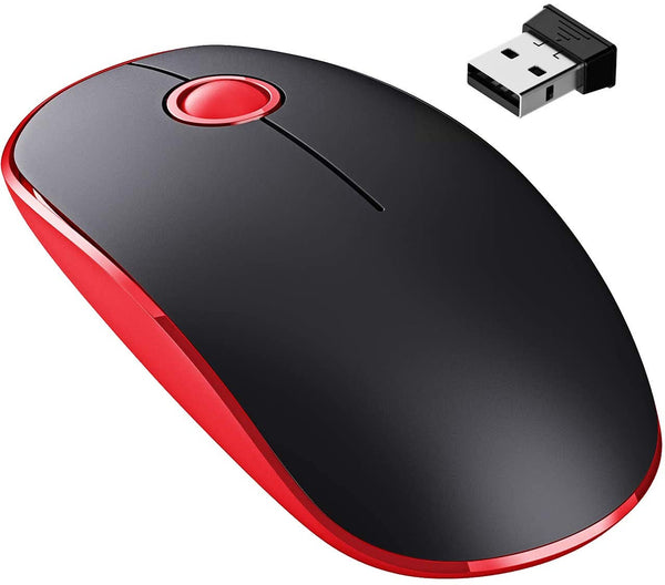 VictSing Slim 2.4Ghz Wireless Mouse  Red