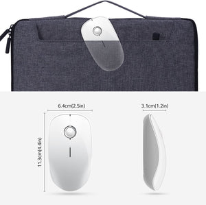 VictSing Slim 2.4Ghz Wireless Mouse White and Silver