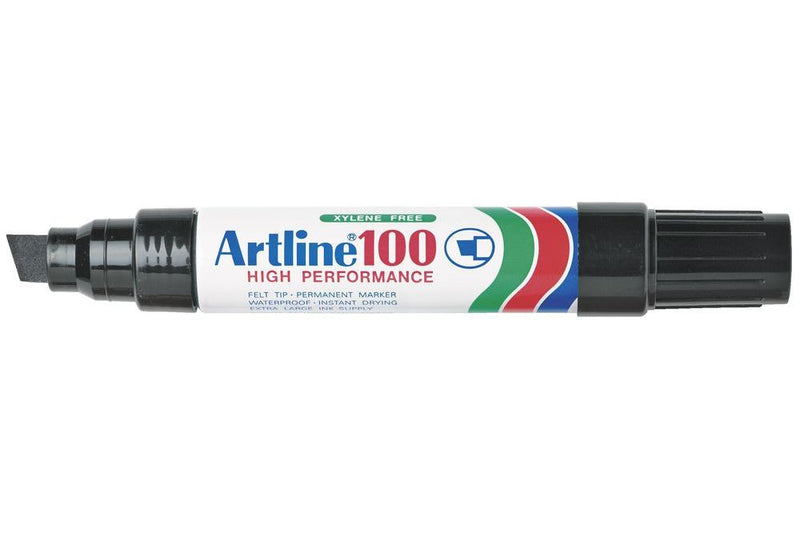 Artline 100 Chisel Black