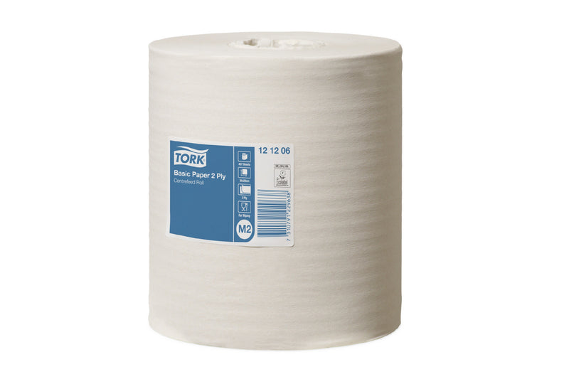 Tork Basic Paper 2ply Centerfeed Roll : M2  121206