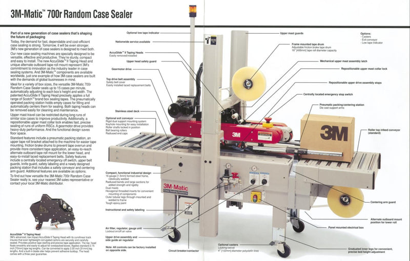 "3M Matic Case Sealer 700A/800A ""Various Models Available"""