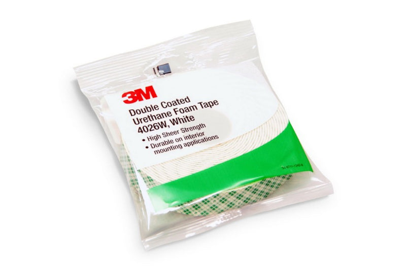 "3M 4026W Double Sided Foam Tape ""Retail Roll"""