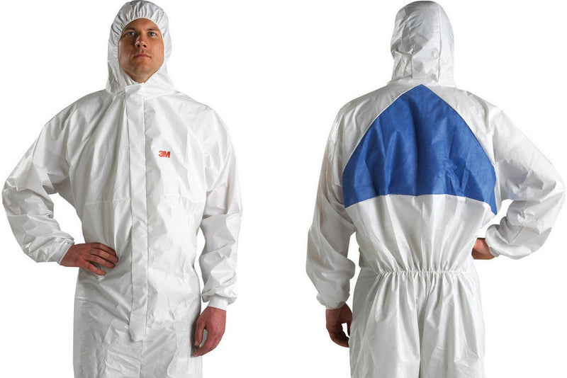 3M 4540 Coverall White with Blue Triangle