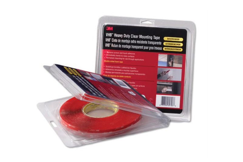 "3M 4910 VHB Double Sided Tape Clear ""Retail Roll"""