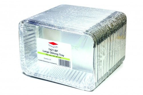"Foil Tray ""Large Oblong"" 7421BP"