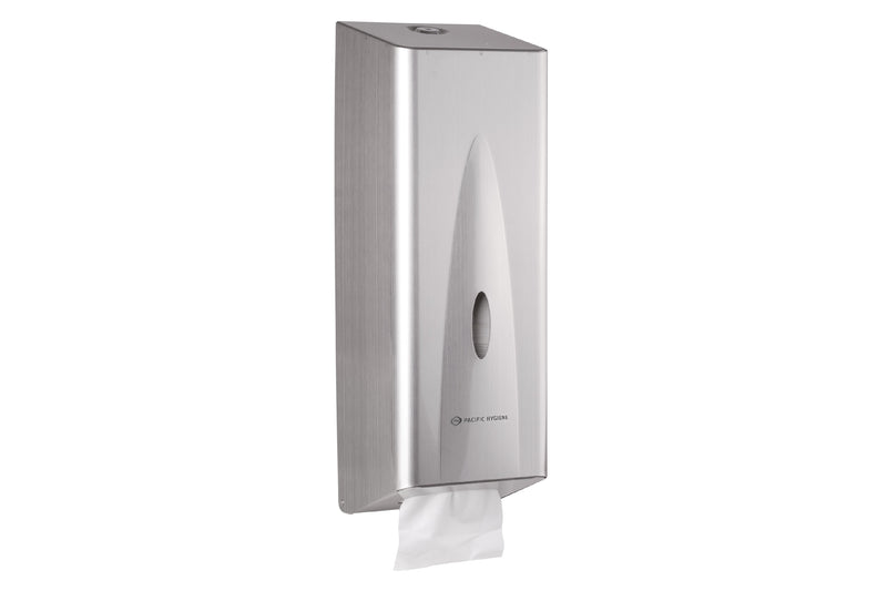 Stainless Steel Interleaved Toilet Tissue Dispenser DX30