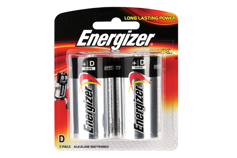 Energizer Max Batteries D  2/Card
