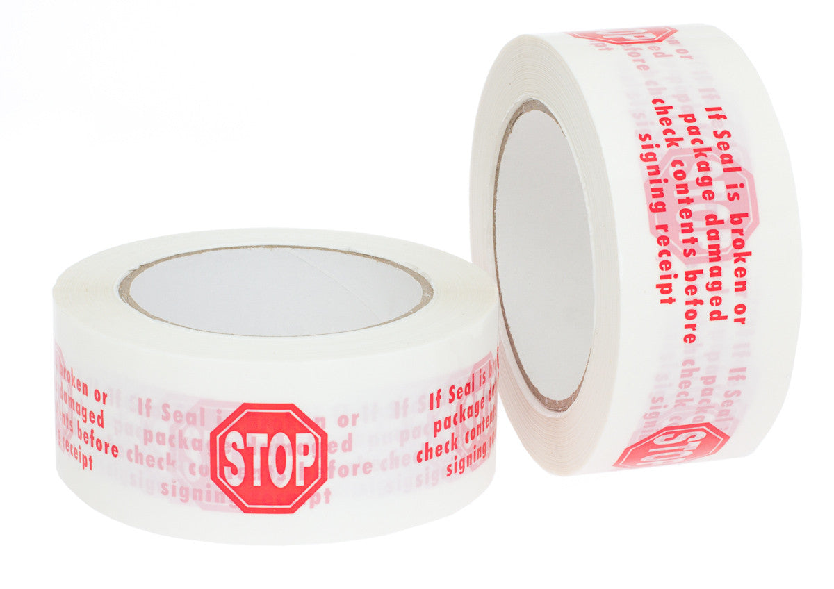 Security Seal Quot Stop Quot Packaging Tape Hardy Packaging