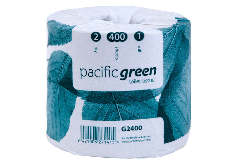 Pacific Green Recycled 400s 2ply Toilet Rolls