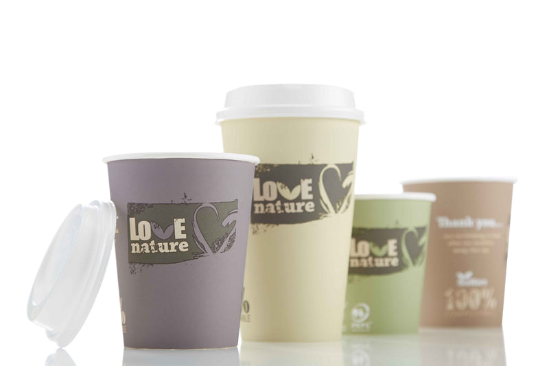 "Compostable Hot Cup ""Love Nature"""