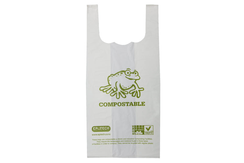Compostable Bin Liner With Tie Handles