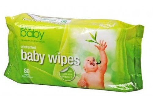 Pure Baby Wipes Unscented