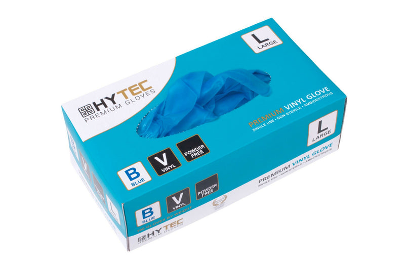Blue Vinyl Gloves Powder Free